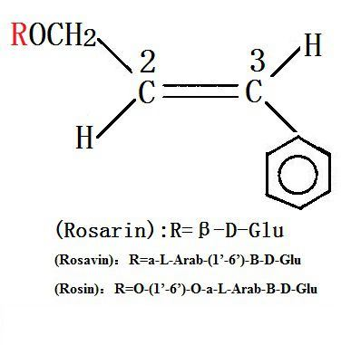 the structure of rhodiola extract 3% salidroside 1% rosavin