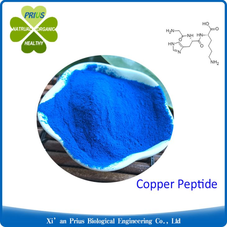 Prezatide Copper Acetate Good Anti-aging Ingredients Blue Powder Hot Selling Copper Peptide GHK-Cu